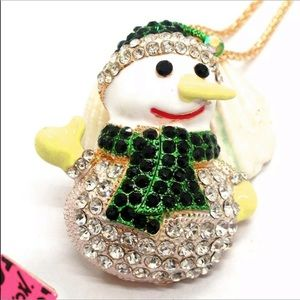 Betsey Johnson snowman necklace